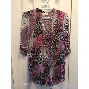 Pink Patterned Blouse/Tunic